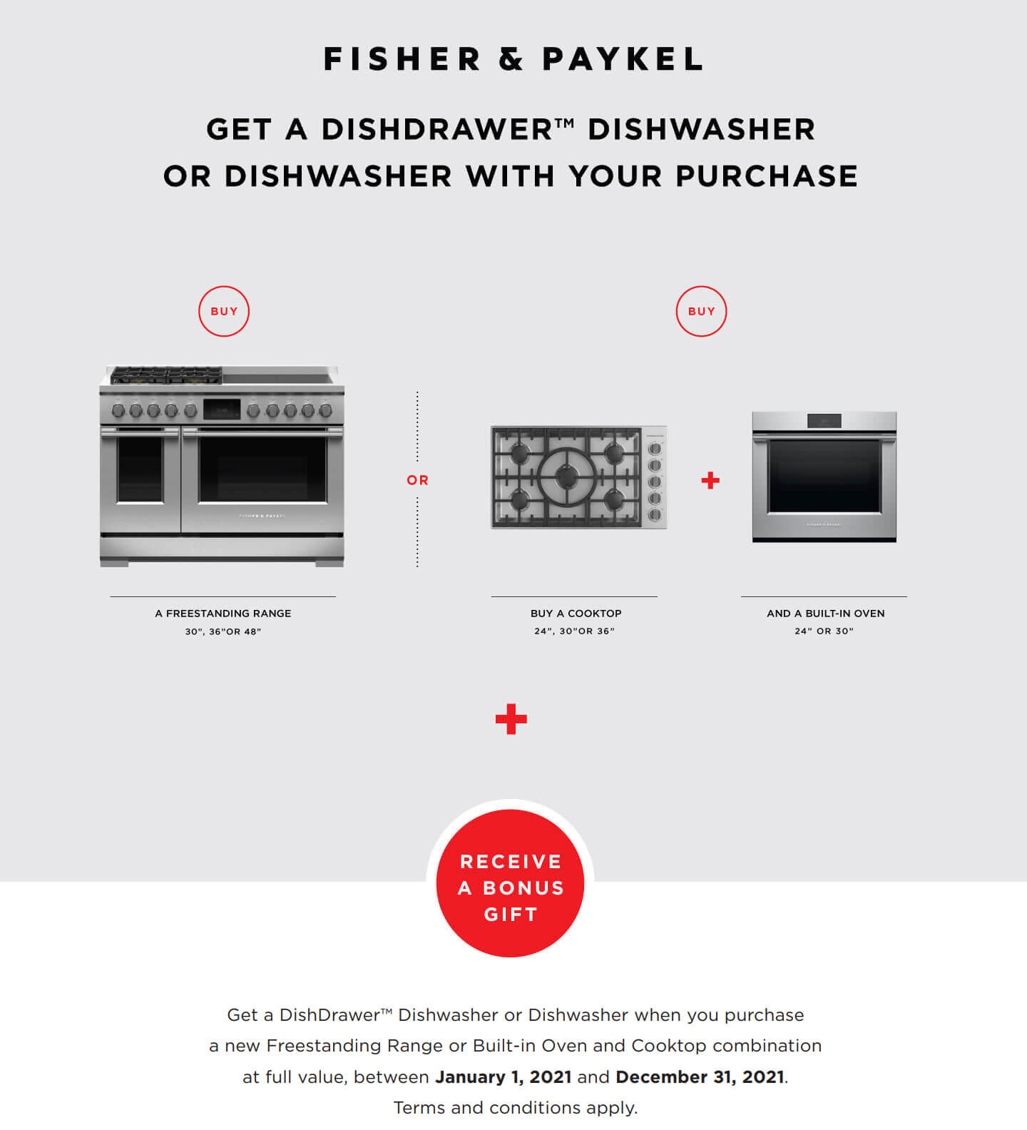 Fisher & Paykel Free Dishwasher Offer